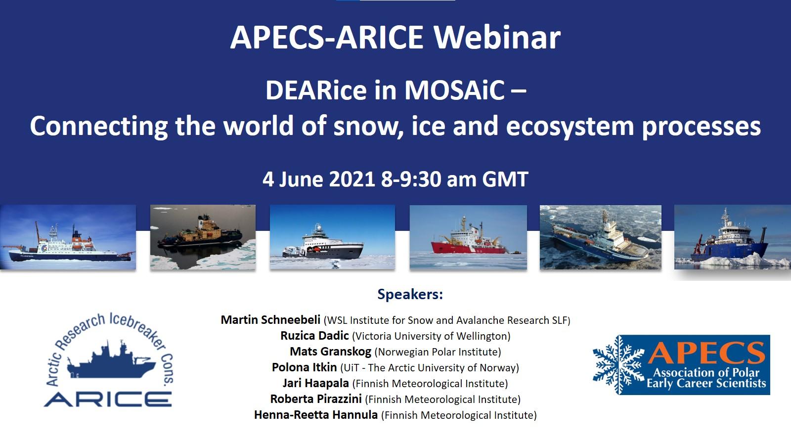 APECS-ARICE webinar: DEARice in MOSAiC